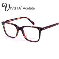 Wholesale Handmade Glasses Frames - Wholesale- Oliver Peoples OV5031 Handmade Real Acetate Glasses Frame Johnny Depp Brand Men Optical Eyewear Demi Tortoise with original logo
