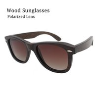 Wholesale Lentes Sol Mujer - Natural wooden sunglasses women men brand designer 2016 with spring hinge mirror polarized glasses uv400 lentes de sol hombre mujer