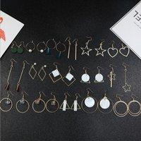 Wholesale Earrings Lo - 40 Designs Mix Silver Gold Alloy Tone Faux Pearl Crystal Beads Drop Earrings For Women Gifts Long Dangle Earrings LO