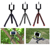 Wholesale Octopus Iphone - Flexible Octopus Tripod Spider Mount Holder stand Mini Professional with holder Gorilla Gorillapod For mobile cell phones iphone 5s 6 7 8