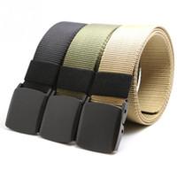 Wholesale Tactical Belt Buckles Wholesale - Wholesale- 2016 Brand New Automatic Buckle Nylon Belt Male Army Tactical Belt Jeans Men Waist Designer Belts Men Strap
