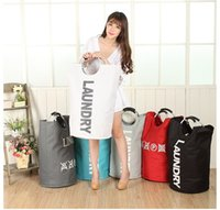 Wholesale Dirty Clothes Storage - 5 Colors Storage Dust bag Baskets Multi-function dirty clothes storage folding clothes basket Toys Storage Bags laundry organizer