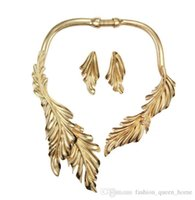 mexican long dresses UK - 12pcs NEW design Fashion alloy leaf chokers Open Necklace No buckle Long Necklace for Charm Women Party Dress Accessory F212