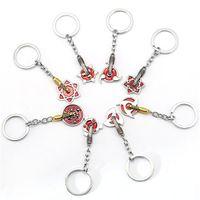 Wholesale Men S Metal Jewelry - Popular Anime Naruto Uchiha Sasuke Classic pendant Cool Key Chain Men 's fashion gold and silver alloy jewelry pendant