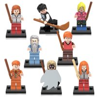 Wholesale Harry Potter Death - 8pcs Harry Potter College of Wizardry Mini Death Eaters Hermione Ron Ginny Luna George Figure Building Block Toys XINH X0129