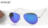 Wholesale Polycarbonate Lights - Ultra-light Frame Sunglass Brand Designer Sunglasses Flash Mirror Lenses 56mm Polycarbonate Lenses Men Women Sunglasses with Leather Box