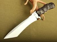 sabit bıçak bıçakları deri kılıf toptan satış-Fox Survival Düz Bıçak 7Cr17Mov 58HRC Sabit Bıçak Bıçak Ayna Bıçak Taktik Avcılık Survival Bıçak Hediye Kutusu Deri Kılıf Koleksiyonu
