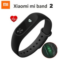 Wholesale Android Display Monitor - Wholesale- Original New Xiaomi Mi Band 2 Smart Wristband Bracelet Miband 2 Fitness Tracker Heart Rate Monitor OLED Display for Android iOS