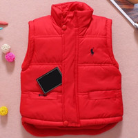 Wholesale Boys Outerwear Winter Coat Children - Baby Vest Jacket Children Solid Winter Outerwear Coats Clothing Plus Cotton Warm Clothes for Boy Girl Thick Toddler Waistcoat