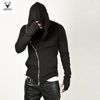 männer zip up sweatshirts großhandel-Wholesale-Herrenmode Sportbekleidung 2016 Hot Brand Diagonal ZIP-UP Mens Assassins Creed Sweatshirt Hoodie Mode-Design für Männer Sportbekleidung