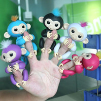 Wholesale Plastic Skateboards For Kids - 2017 The Best Toy Gift for Kids 6 Colors Funny Fingerlings Monkey Toys Interactive Smart Induction Robot Pet Baby Finger Lings Christmas
