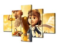 Wholesale Quality Poster Printing - Modular Wall Paintings 5Pcs Cartoon The Little Prince Poster Good Quality Oil Canvas Pictures For Living Room(No Frame)