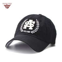 Wholesale Dark Gray Snapback - Wholesale- Adult Casual Visor Baseball Caps Cotton Solid Color Letter Patch Hats Adjustable Snapback Cap Navy Blue Dark Gray Hat CL-464