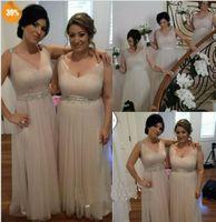 Wholesale Vestidos Noche Cheap - Vestido Para Madrinhas V Neck Cheap Light Sliver Bridesmaid Dress Long Wedding Party Dress Fast Delivery Vestidos De Noche