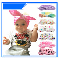 Wholesale Color Optional Christmas Headdress Children Sport Rabbit Ears Headband Stretch Fashion Fabric Hair Hair Band