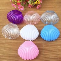 Wholesale Beach Theme Birthday Party - Clear Plastic Shell Candy Box Beach Theme Wedding Birthday Party Favors Box DIY Decor Gift Wrap Case ZA5279