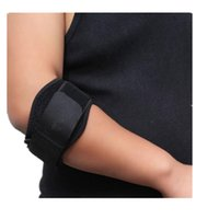 Wholesale basketball elbow bands - Wholesale- Unisex Elbow Pads Wristband Arm Band Finger Lock Basketball Tennis Outdoor Sports Elbow Guards Protector Nove22