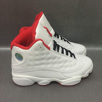 Wholesale Athletic Shoes History - Retro 13S HISTORY OF FLIGHT Cherry Chicago Basketball Shoes 13s PLAYOFFS Flint men Sports Shoes Mens Boot Athletics Women Sneaker Footwear
