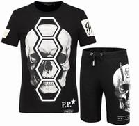Wholesale Slim Denim Shirt - 2017 summer new men's T-shirt Europe and the United States tide brand fashion skull prints cotton Slim half-sleeved T-shirt men's men's shor