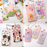 Wholesale Stich Cases - For iPhone 6 6S 7 Plus Cute Stich Bear Pink Bear Rabbit Mickey Minnie Mouse Soft TPU Silicone Cover Case