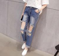 cheap plus size ripped jeans - Jean Yu Beauty