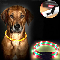 Colares para cães USB Luminous Pet Collar LED Light USB Carregamento Dog Collar Teddy Flash Collar Pet Supplies Atacado 0704051