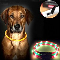 Collares para perros USB luminoso Collar para mascotas LED Light USB de carga de perro Collar Teddy Flash Collar Suministros para mascotas al por mayor 0704051