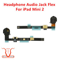 Wholesale Earphones Colour - For iPad Mini 2 Original Headphone Earphone Audio Jack Flex Cable Ribbon Fix for iPad Mini2 Black and White Colour DHL Free Shipping