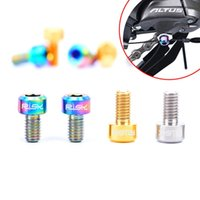 Wholesale Titanium Screw Bicycle - Wholesale 2PCs Bike Screws M5*9mm MTB Bicycle Front Rear Derailleur Cable Pinch Bolts Titanium Alloy MN0433