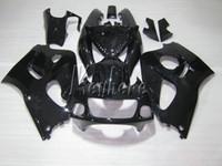 Wholesale Suzuki 99 - ABS plastic fairing kit for Suzuki GSXR600 96 97 98 99 glossy black bodywork fairings set GSXR750 1996 1997 1998 1999 OI32