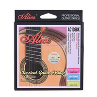Wholesale Black Classical Guitars - Wholesale- Alice AC136BK-H Black Nylon Classical Guitar Strings 6pcs set Hard Tension or Normal Tension with One Complimentary G-3rd String
