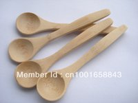 Wholesale Small Bamboo Spoons - Wholesale- Factory small wholesale natural small wooden boutique salad spoon natural tableware kitchen utensils small spoon100pcs lot