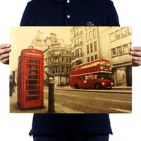 Wholesale Figure Wallpaper - 1pcs ,Retro-style posters decorate the wallpaper and wall posters of the street architecture of the European and American streets