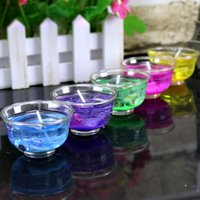 Wholesale Bowling Party Supplies - 2017 NEW wholesale Bowl box jelly shop supplies creative do romantic Gel Wax Art candle