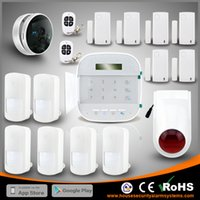 Wholesale Alarm Wireless Dual Network - Perfect WIFI House GSM Alarm System Dual Network Wireless Home Security Burglar With IP Camera By DHL Free