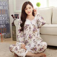 Wholesale Thick Girl Pajamas - Wholesale- New Winter Pajamas Set For Women Thick pyjamas women pijama Comfortable Sleepwear Girls Female Home wearing Night Clothes