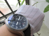 Wholesale Fabric Crowns - high quality men watch 41mm chronograph chrono working JAPAN quartz BIG CROWN PRO PILOT watch wristwatch