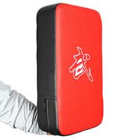 пуповые подушки оптовых-Кожа PU пробивая бокс Pad прямоугольник фокус ММА ногами удар мощность удар кунг-фу боевых искусств тренировочное оборудование +B