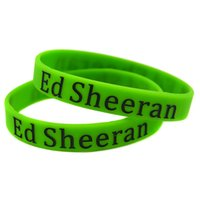 Wholesale Paw Music - Wholesale Shipping 100PCS Lot Ed Sheeran X Silicone Wristband Bracelet with Paw Logo Perfect Gift for Music Fans