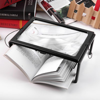 Wholesale Large Magnifier 3x - A4 Full Page Large Magnifier 3X Foldable Magnifying Glass Loupe Hands for Reading magnifying glass LED