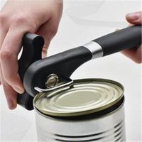 Wholesale Soft Grip - Stainless Steel Manual Can Opener with Soft Grips Handle Ergonomic Smooth Edge Side Cutting can opener Lid Lifter bottle opener