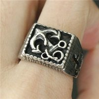 Wholesale Mens Anchor Rings - Size 7-13 Fashion Big Anchor Ring 316L Stainless Steel Biker Style Cool Mens Boat Anchor Ring