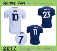 Wholesale Football Tshirt - Big Size S-4XL Kane soccer jersey Eriksen Walker Rose Vertonghen Son Janssen Lamela Dele Football Tshirt maillot de foot camisa jersey