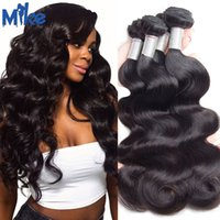 Wholesale Human Hair Extensions 4pieces - MikeHAIR Brazilian Body Wave Hair Weave Unprocessed Brazilian Hair Body Wave 4Pieces Peruvian Malaysian Indian Russian Human Hair Extensions