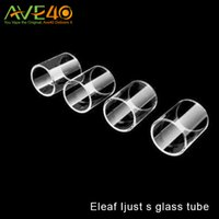 Wholesale Wholesale Glass Cleaners - Eleaf Ijust s Replacement Pyrex Glass Tube Ijust S 4ml Glass Tube Easy to Replace and Clean vs Eleaf Melo 3 Mini Glass Tube