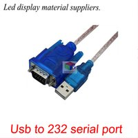 Wholesale Serial Led Display - Usb to serial 9-pin serial line male to female usb-rs232 line LED display control card USB to 232 converter 80CM