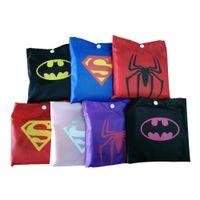 Wholesale Children Rainwear - DHL free shipping 7 styles New Kids Rain Coat children Raincoat Rainwear Rainsuit boys girls Kids Waterproof Superhero Raincoat