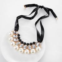 ingrosso nastri uniti-Factory Outlet Europa e Stati Uniti selvatici stella elegante collana di perle nastro Europa e gli Stati Uniti grande collana