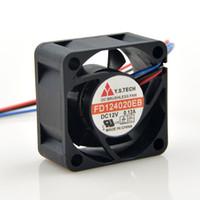 cojinete del ventilador 12v al por mayor-El ventilador original Y.S Tech FD124020EB 4CM 4020 12V 0.12A con doble bola