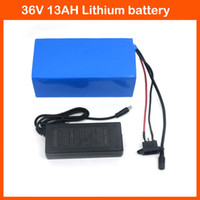 Wholesale 36v lithium battery - Hot sale 36V Lithium battery 500W 36V 13AH Electric bike battery with PVC case use 2600mah 18650 cell BMS 42V 2A charger
